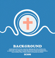 religious cross Christian icon sign Blue and white vector image vector image