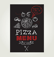Restaurant cafe pizza menu template design vector image vector image