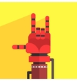 Robot Hand Making Sign Of Horns vector image vector image