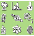science icons - hand-drawn sticker vector image vector image
