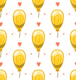Seamless pattern with cute cartoon balloons 5 vector image vector image
