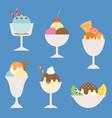 set ice cream vector image