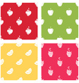 Set of seamless patterns of fruits vector image vector image
