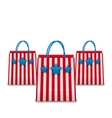 Shopping Bags in American Patriotic Colors vector image