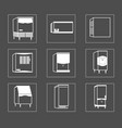 simple set of fridge related line icons vector image vector image