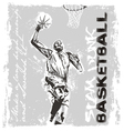Slam dunk basketball player