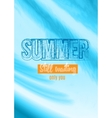 Summer Still Waiting Party Flyer Design vector image vector image
