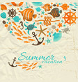summer vacation design composition vector image vector image