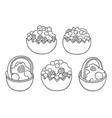sweet food hand drawn doodles vector image