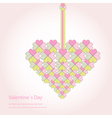 Valentine decorative love heart vector image