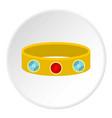vintage gold bangle icon circle