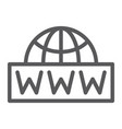 world wide net line icon communication network vector image