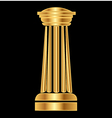Gold column Ancient Greek vector image