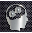 human head with gears inside vector image
