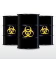 Black Barrel With Yellow Biohazard Symbol Isolated vector image