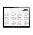 2014 Calendar vector image