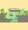2d tileset platform game 15 vector image vector image