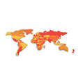 3d political map of world vector image vector image
