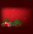 abstract background with christmas bells and vector image vector image