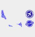 aircraft mosaic comoros islands map and vector image vector image