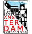 amsterdam poster t shirt design vector image