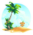 background palm tree with vector image vector image