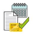 bank online design vector image