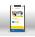 blue and yellow security shop ui ux gui screen vector image vector image
