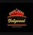bollywood is a traditional indian movie vector image vector image