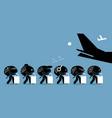 brain drain cartoon artworks depicts emigration vector image vector image