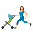 Buggy fit ultimate outdoor fitness class for mums vector image