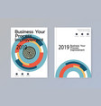 business abstract template brochure design cover vector image vector image