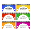 Business card taxi color set vector image vector image