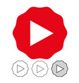 button video player icon vector image