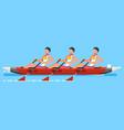 canoeing team canoeist athlete symbol vector image vector image