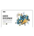 career development isometric landing page banner vector image vector image