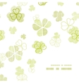 clover textile textured line art frame corner vector image vector image