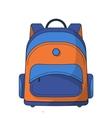 Colorful school bag vector image
