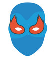colorful silhouette of festive mask with eyes in vector image