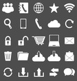 Communication icons on gray background vector image