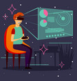 computer game virtual reality background vector image vector image