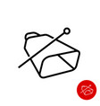 cowbell icon simple linear style cow bell vector image vector image