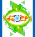 creative indian flag design vector image vector image
