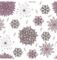 cute doodle seamless floral pattern vector image