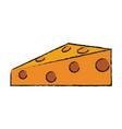 delicious cheese food vector image
