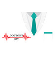 doctors day background a doctors suit or lab coat vector image vector image