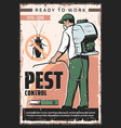 domestic insect pet control extermination service vector image vector image