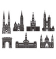 eastern europe european buildings on white vector image vector image