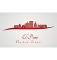 El Paso skyline in red vector image vector image