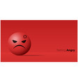 emotional background with angry red face emoji vector image vector image